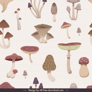 mushroom pattern template elegant classical design