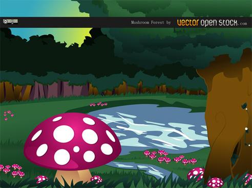 mushrooms vector illustrations