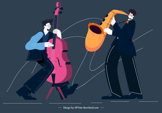music background accoustic performance sketch cartoon design