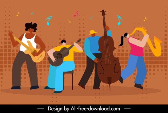 music background orchestra performance sketch cartoon design