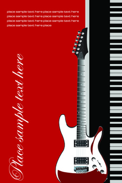 music brochure cover vector background