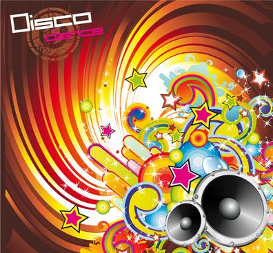 music elements disco dance vector