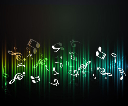 music elements note beckground vector