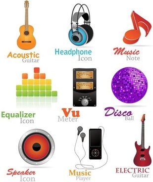 music icon vector fashion