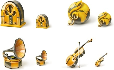 Music icons set icons pack