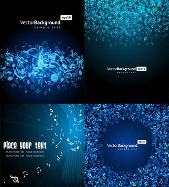 music key blue background