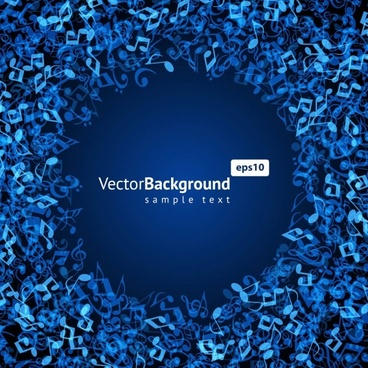 music keys blue background 03 vector