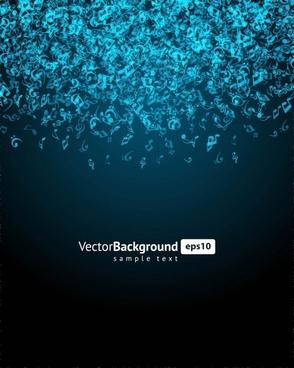music keys blue background 04 vector