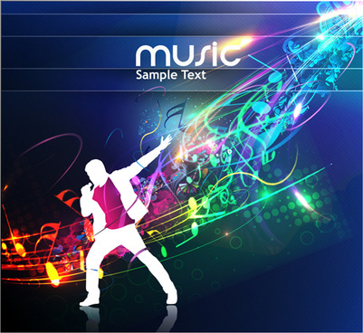 Music party disco background free vector download (52,825