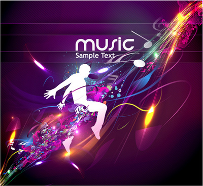 music party11 vector backgrounds part
