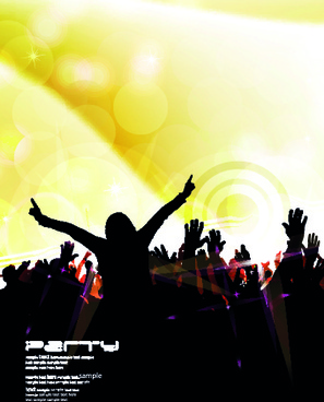music party poster vector illustration