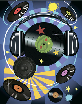 music record art background vector