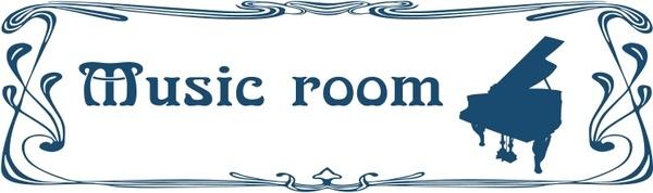 Music room door sign