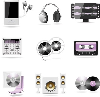 music theme icon vector