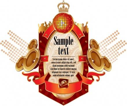 music banner modern symmetric 3d luxury design