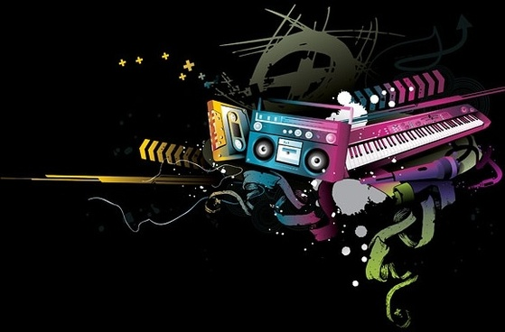 music vector fashion design