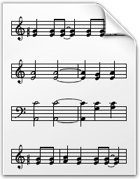 Musical note document