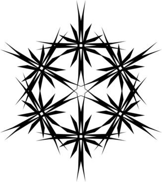 muster 43db stern aus sechs sternen - Stern Muster