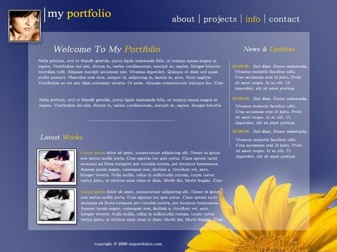 My Portfolio – Free PSD Template