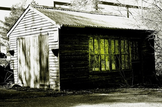 mysterious old shed