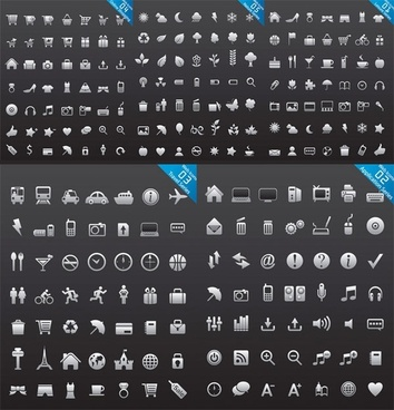 n number of web design icon vector