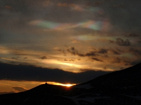 nacreous and ordinary clouds