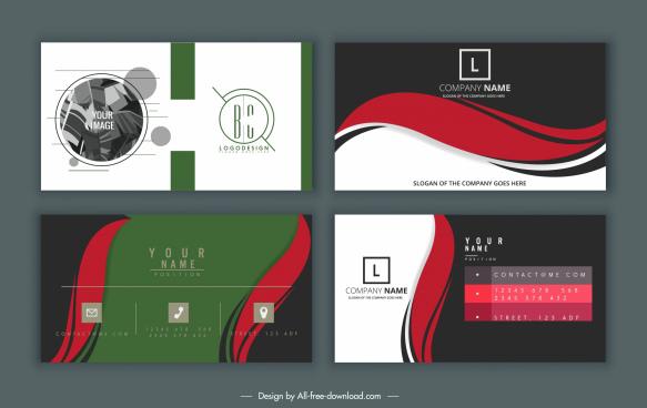name card cover templates elegant modern flat design
