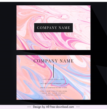 name card template abstract watercolors decor