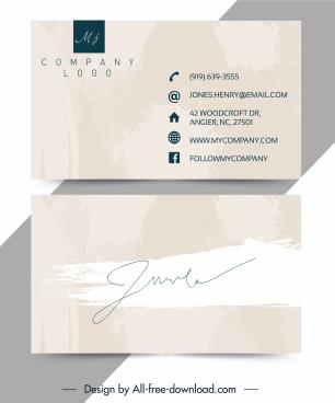 name card template bright grunge signature decor