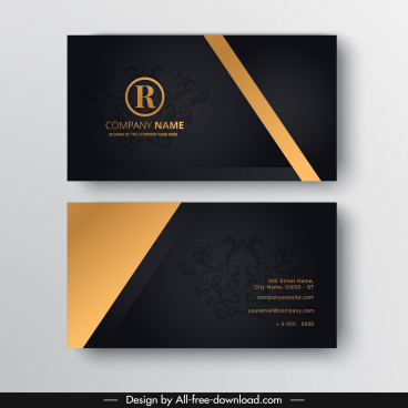 name card template contrast elegant luxury royal decor