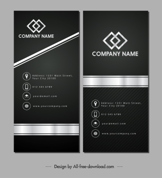 name card template luxury elegant black white design