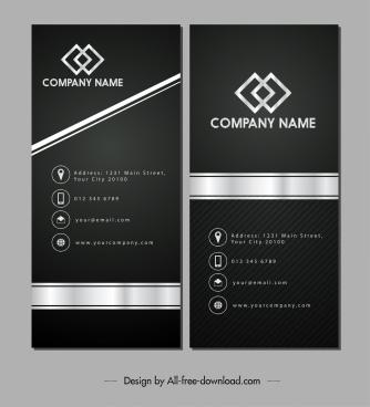 name card template luxury elegant black white design