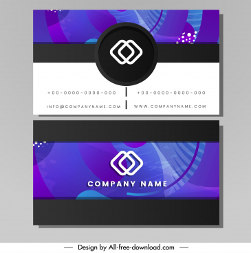 name card template modern elegant abstract blue decor
