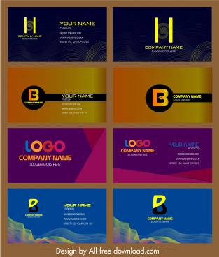 name card templates elegant plain dynamic modern themes