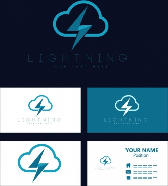 name card templates lightning logo design