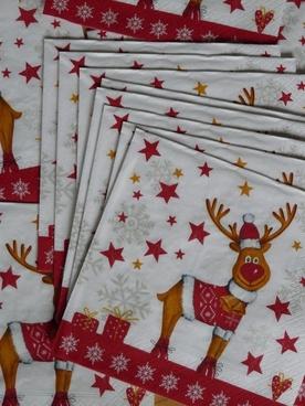 napkins reindeer moose