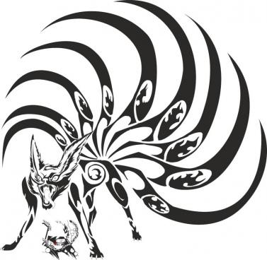 naruto kyubi free cdr vectors art