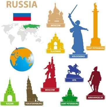 national landmarks silhouette 05 vector