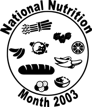 National Nutriion Month clip art