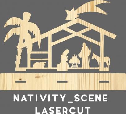 nativity scene presepe lasercut taglio laser