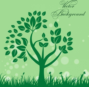 natural background design green tree bokeh style