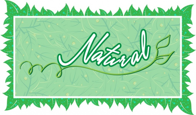 natural background frame design green leaves pattern decoration