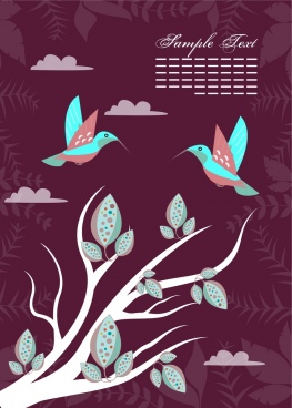natural birds background colorful dark background vignette decoration