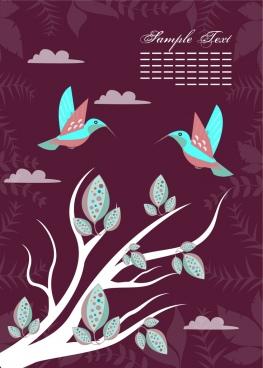 natural birds background colorful dark background vignette decoration