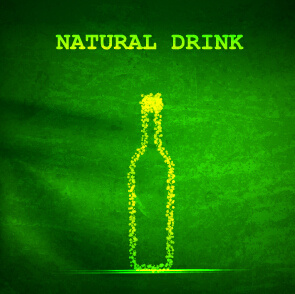 natural drink green background vector