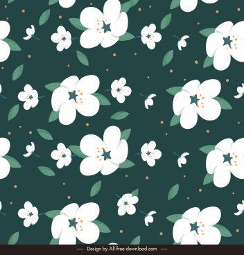 natural flowers pattern template contrast classic repeating decor