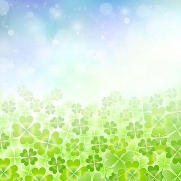 natural green halation background art