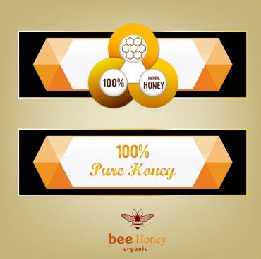 natural honey advertising orange geometric decor