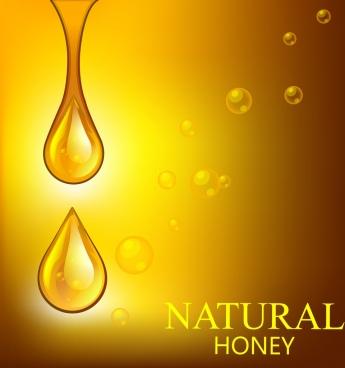 natural honey background shiny golden droplets decor