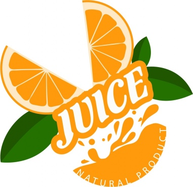 natural juice products advertisement orange slices decoration